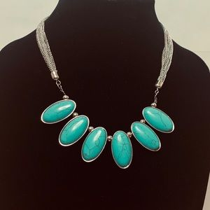 Erica Lyons Faux Turquoise Necklace
